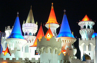 Excalibur at night-1