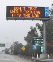 Text while driving NO-1