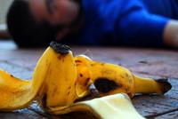 Banana peel fall